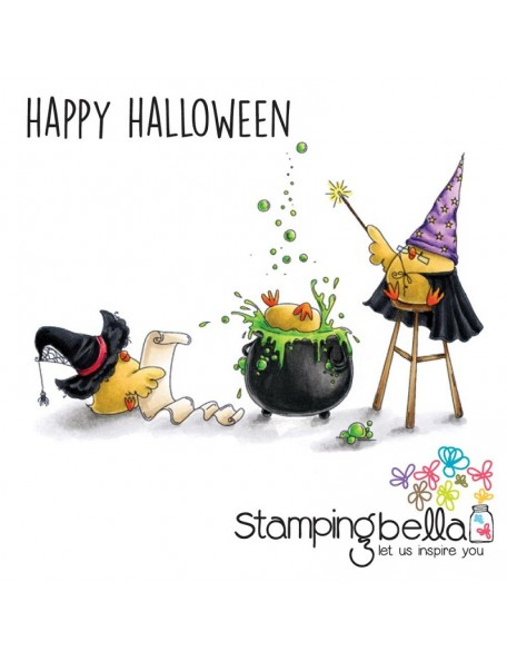 Stamping Bella Cling Stamps-The Wizard, The Witch And The Cauldron