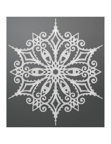 """Couture Creations Let Every Day Be Christmas Die 4.2""""X3.7"""", Snowflake Doily"""