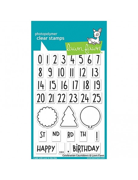 "Lawn Fawn Clear Stamps 4""X6"", Celebration Countdown"