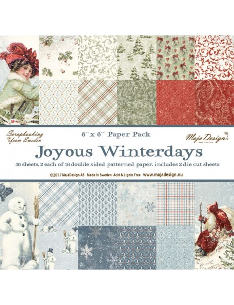 "Maja Design Joyous Winterdays Paper Stack de doble cara 6""X6"""
