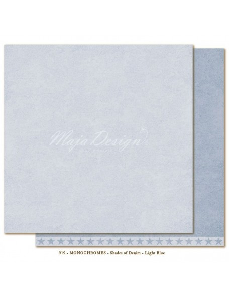 "Maja Design - Monochromes, Shades of Denim Cardstock de doble cara 12""X12"", Light Blue"