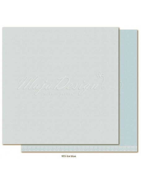 "Maja Design Monochromes Shades of Winterdays Cardstock de doble cara 12""X12"", Ice Blue"