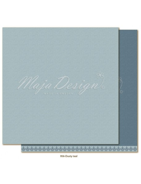 "Maja Design Monochromes Shades of Winterdays Cardstock de doble cara 12""X12"", Dusty Teal"