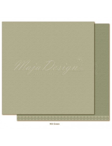 "Maja Design Monochromes Shades of Winterdays Cardstock de doble cara 12""X12"", Green"