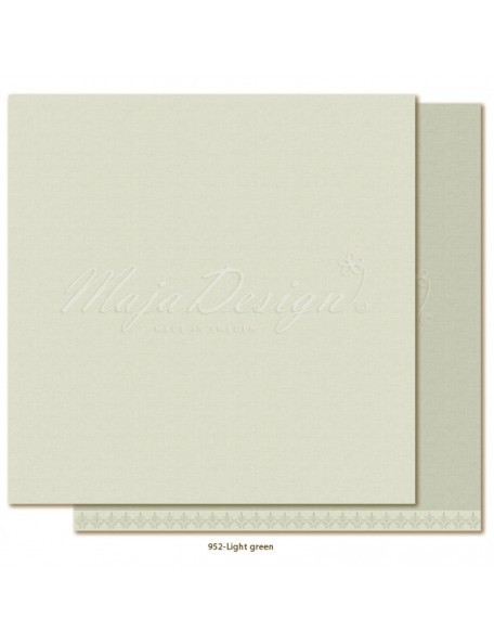 "Maja Design Monochromes Shades of Winterdays Cardstock de doble cara 12""X12"", Light Green"