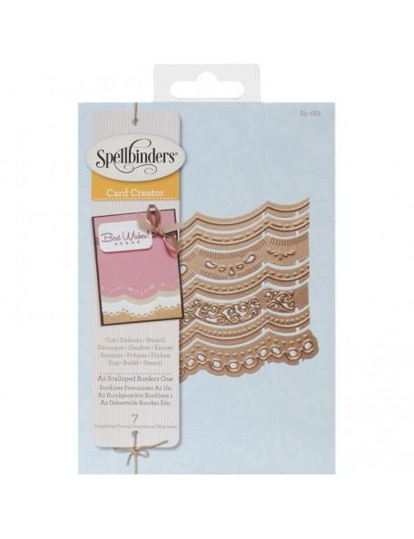 Spellbinders Borderabilities Card Creator Dies-A2 Scalloped Borders 1
