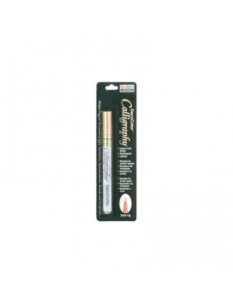Uchida DecoColor Calliggraphy Opaque Paint Marker 2mm, Oro