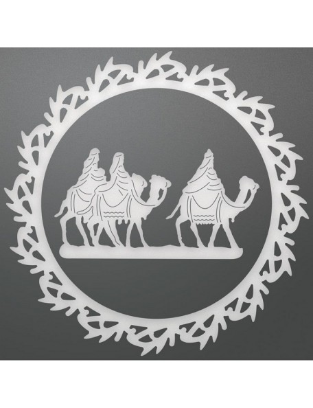"Ultimate Crafts Look Like Christmas Layering Die 2, Wreathed Wise Men 3.5"" X 3.5"""