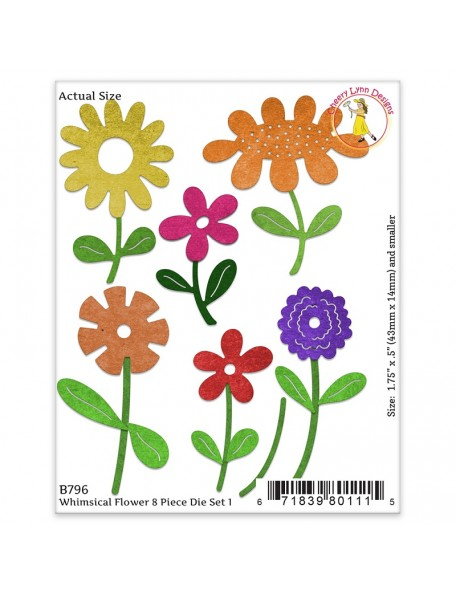 "Cheery Lynn Designs Whimsical Die-Flower 1, .5"" To 1.875"""