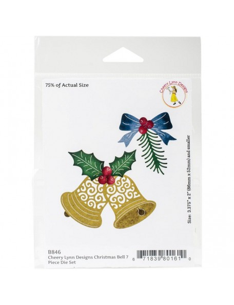 "Cheery Lynn Designs Die, Christmas Bell, .5"" To 3.375"""