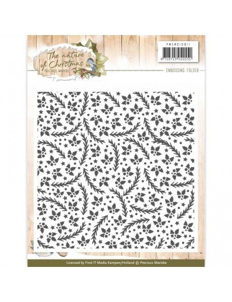 Find It Precious Marieke Nature Of Christmas Emboss Folder
