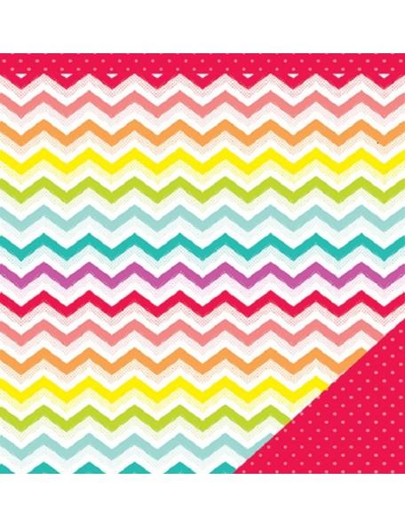 "American Crafts #Summer Cardstock de doble cara 12""x12"", Catch A Wave"