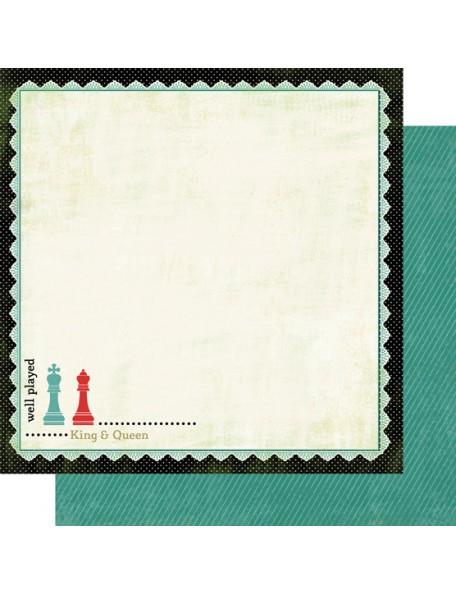 "Carta Bella - Well Played Cardstock de doble cara 12""X12"", King & Queen"