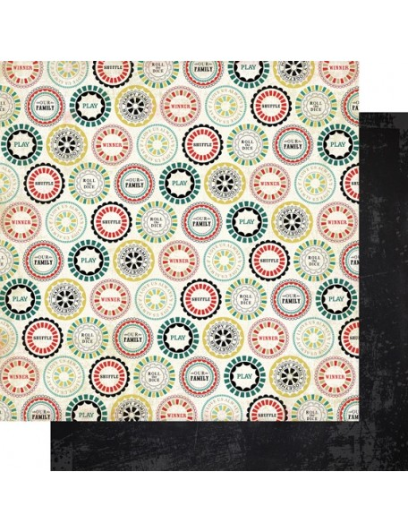 "Carta Bella - Well Played Cardstock de doble cara 12""X12"", Play on"
