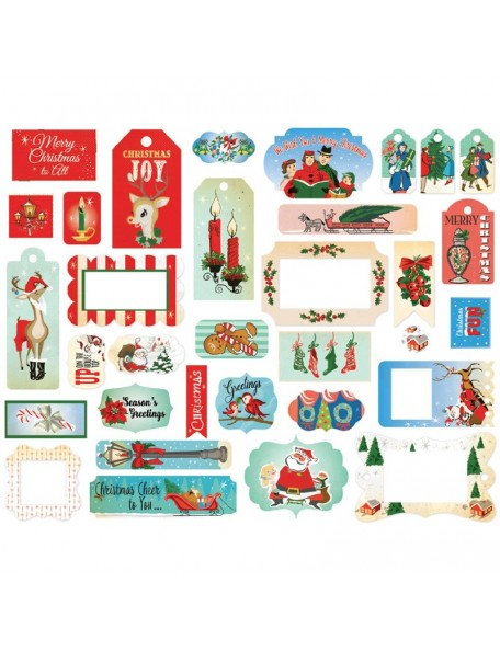 Carta Bella A Very Merry Christmas Ephemera Cardstock Die-Cuts 33, Frames & Tags