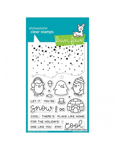 "Lawn Fawn Snow Cool Clear Stamps 4""X6"""