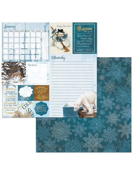 """On This Day Double-Sided Cardstock 12""""X12""""-January"""