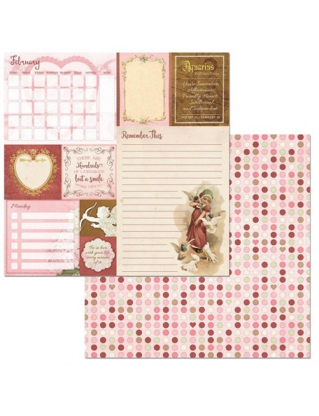 "Bobunny On This Day Cardstock de doble cara 12""X12"", February"
