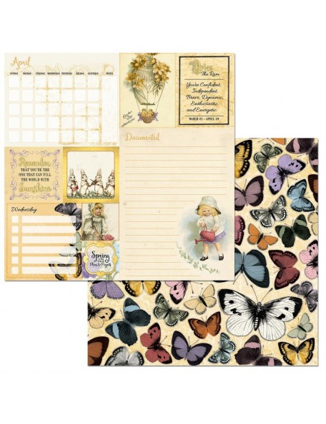 "Bobunny On This Day Cardstock de doble cara 12""X12"", April"
