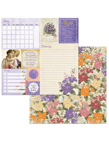 "Bobunny On This Day Cardstock de doble cara 12""X12"", May"