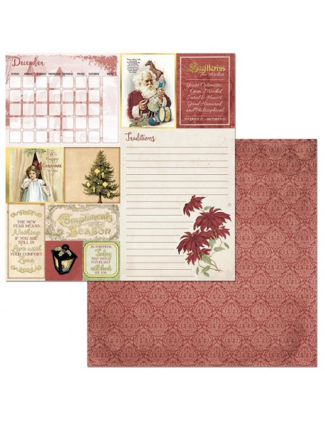"Bobunny On This Day Cardstock de doble cara 12""X12"", December"