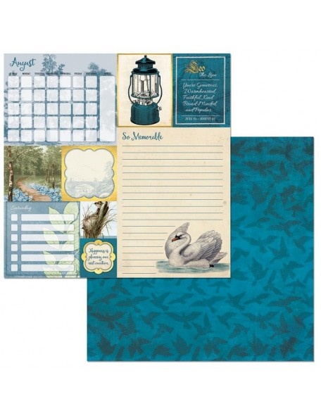 "Bobunny On This Day Cardstock de doble cara 12""X12"", August"