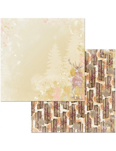 """Bobunny Carousel Christmas Cardstock de doble cara 12""""X12"""", Peace"""