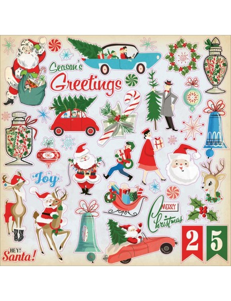 "Carta Bella A Very Merry Christmas Cardstock Pegatinas 12""X12"""