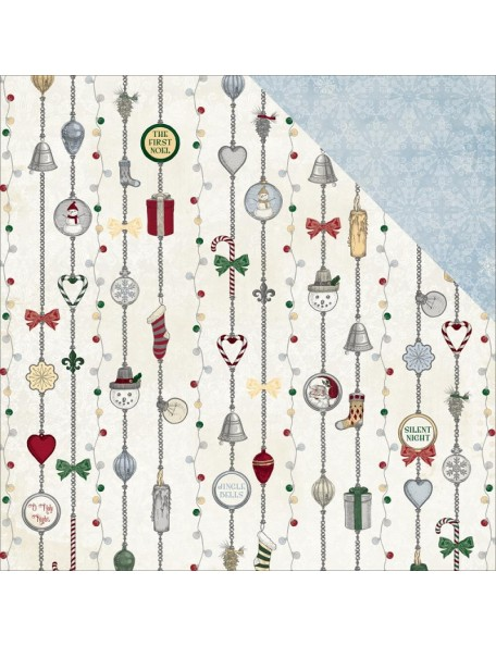 "Bobunny 'Tis The Season Cardstock de doble cara 12""X12"", Silver Bells"
