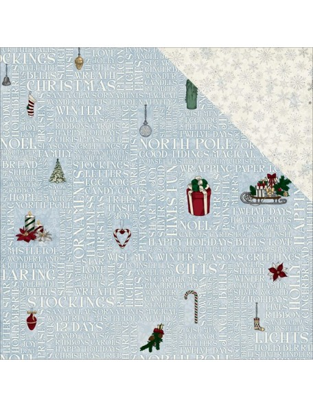 "Bobunny 'Tis The Season Cardstock de doble cara 12""X12"", 'Yuletide"