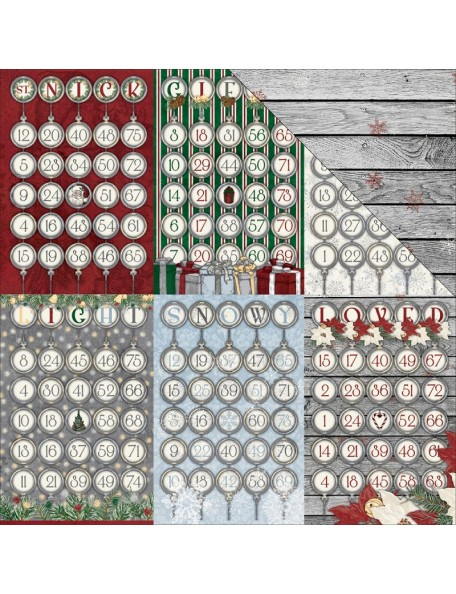 """Bobunny 'Tis The Season Cardstock de doble cara 12""""X12"""", Ornaments"""
