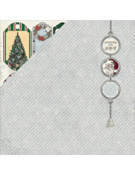 """Bobunny 'Tis The Season Cardstock de doble cara 12""""X12"""", Peace"""