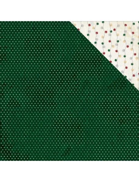"""Bobunny 'Tis The Season Cardstock de doble cara 12""""X12"""", Pine"""
