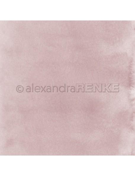 Alexandra Renke Cardstock de una cara 30,5x30,5 cm, Mimis Kollektion Aquarell Altrosa