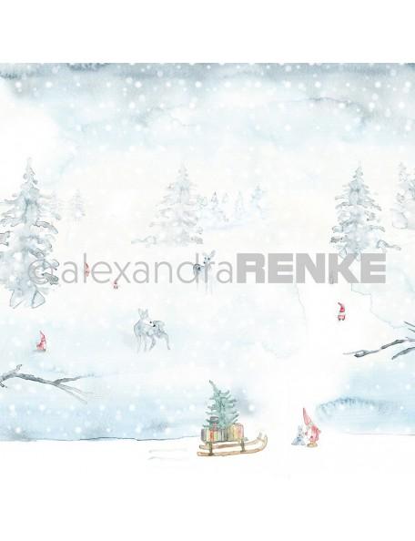 Alexandra Renke Cardstock de una cara 30,5x30,5 cm, Paisaje Nevado/Wichtelschneelandschaft
