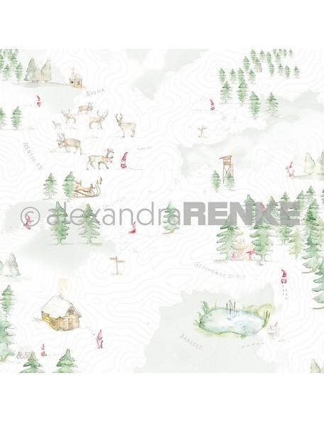Alexandra Renke Cardstock de una cara 30,5x30,5 cm, Paisaje con Gnomos/Wichtellandschaft