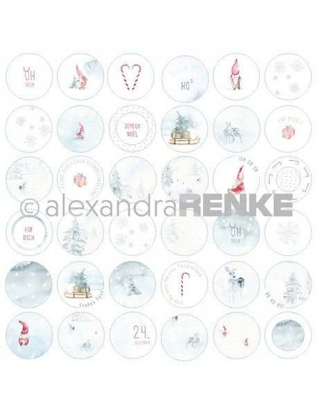 Alexandra Renke Cardstock de una cara 30,5x30,5 cm Wichtel Kreise