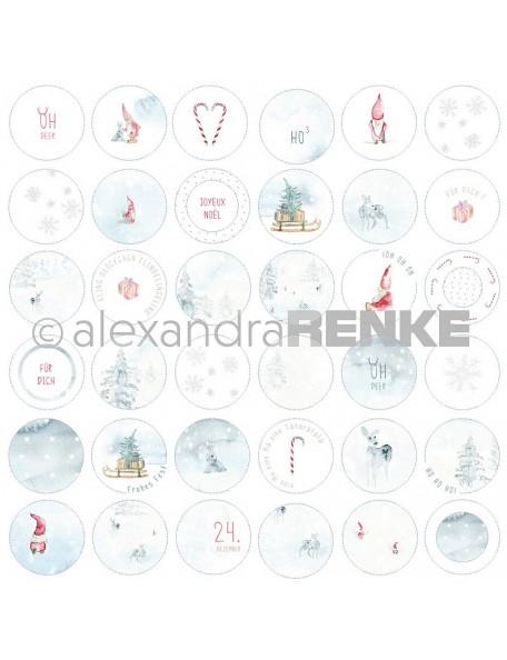 Alexandra Renke Cardstock de una cara 30,5x30,5 cm, Gnomos en Circulos/Wichtel Kreise