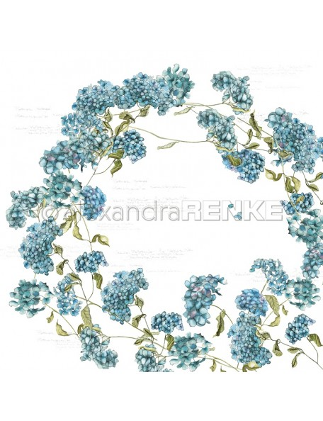 Alexandra Renke Cardstock de una cara 30,5x30,5 cm, Hortensias/Hortensien
