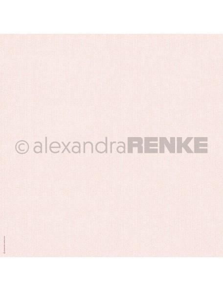 Alexandra Renke Cardstock de una cara 30,5x30,5 cm, Punto Rosa/Rose gestrickt
