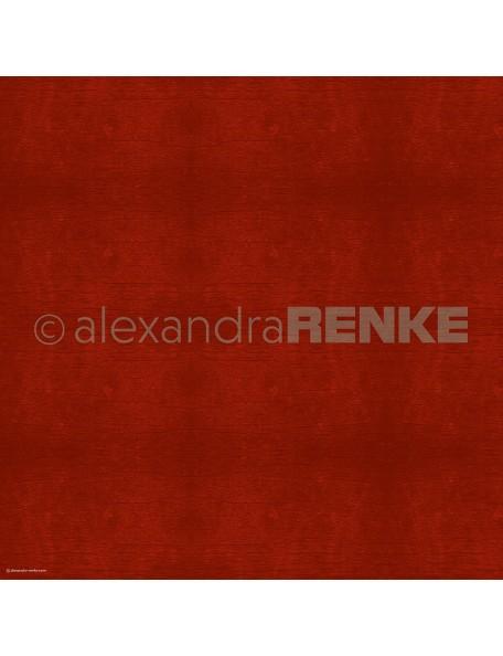 Alexandra Renke Cardstock de una cara 30,5x30,5 cm, Textura de Madera Rojo Oscuro/Holzstruktur Rot dunkel