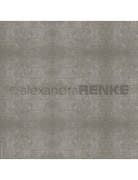 Alexandra Renke Cardstock de una cara 30,5x30,5 cm, Textura de Madera Gris/Holzstruktur grau