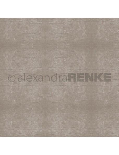 Alexandra Renke Cardstock de una cara 30,5x30,5 cm, Textura de Madera Cobre/Kupfer Holzstruktur