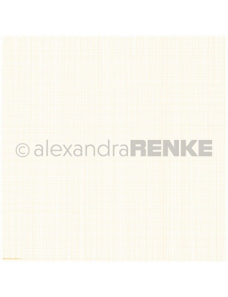 Alexandra Renke Cardstock de una cara 30,5x30,5 cm, Rejilla Amarilla/Gitter gelb
