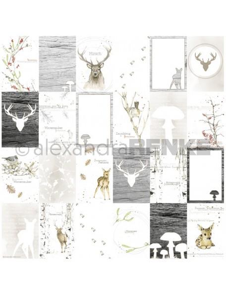 Alexandra Renke Cardstock de una cara 30,5x30,5 cm, Tarjetas de Acuarela/Aquarell Kärtchenbogen