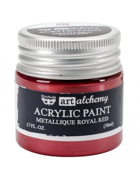 Prima Marketing Finnabair Art Alchemy Acrylic Paint 1.7 Fluid Ounces, Metallique Royal Red