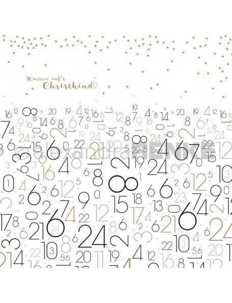 Alexandra Renke Cardstock de una cara 30,5x30,5 cm, Esperando la Navidad/Warten aufs Christkind