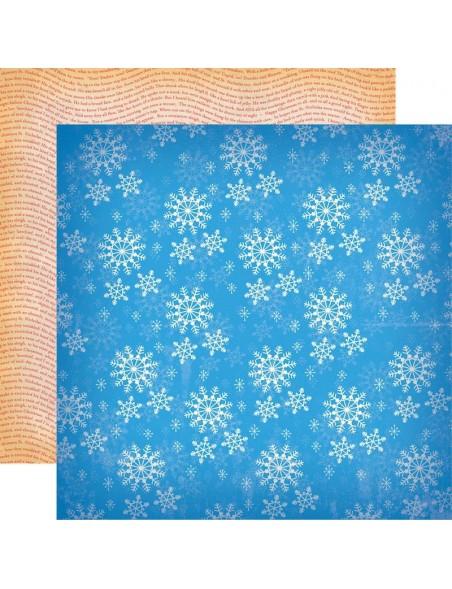 """Carta Bella A Very Merry Christmas Cardstock de doble cara 12""""X12"""", Winter Snowflakes"""
