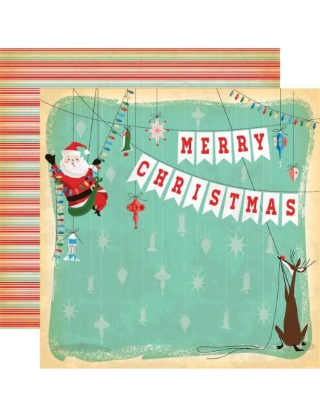"""Carta Bella A Very Merry Christmas Cardstock de doble cara 12""""X12"""", Merry Christmas"""
