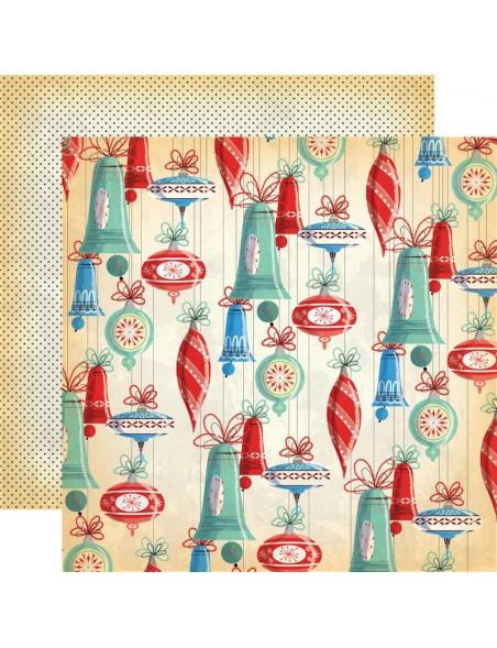 """Carta Bella A Very Merry Christmas Cardstock de doble cara 12""""X12"""", Christmas Bells"""